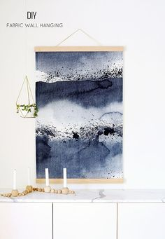 DIY Wall Hanging - the fabric is prebought. The Tutorial is for how to hang fabric as wall art