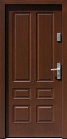 Drewniane wejściowe drzwi zewnętrzne do domu z katalogu modeli klasycznych wzór 534,8