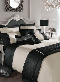 Luxury Bedding Sets For Less Key: 3940887136 Bedroom Sets, Dream Bedroom, Home Bedroom, Master Bedroom, Bedroom Decor, Home And Deco, Luxury Bedding, Gold Bedding, White Bedding