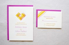 Oh So Beautiful Paper: Citrus-Inspired Letterpress Overprinting Wedding Invitations