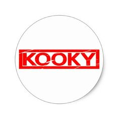 Kooky Stamp Classic Round Sticker - fun gifts funny diy customize personal