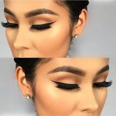 Makeupbag: Winged Liner, Long Eyelashes, Thick Brow Makeup,  False Lashes, Pretty, Makeup