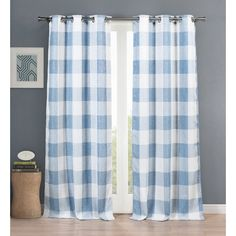 Rosenblum Plaid and Check Blackout Thermal Curtain Panels
