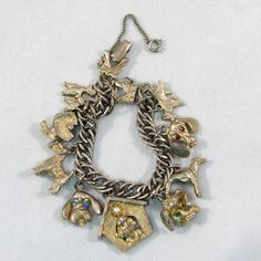 Vintage 1950s Gone To The Dogs Charm Bracelet by VintageCreekside, $28.00