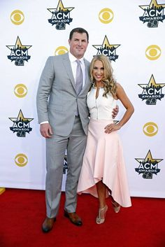 Jason Witten and his wife Michelle on the red carpet before the ACMs #ACM50