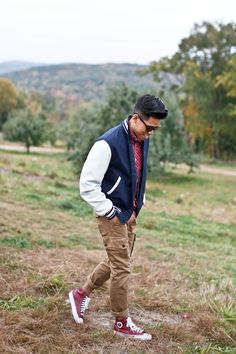 Outfit: Men's Varsity Jacket Apples To Apples I... | Closet Freaks | Menswear & Personal Style
