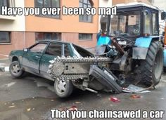 "They ""saw"" the accident - Auto Oops! Bizarre Car Accidents, Part 7 All About Insurance, Car Insurance, Farm Jokes, Driving Courses, Train Truck, Road Rage, Heavy Machinery, Live, Cool Cars"