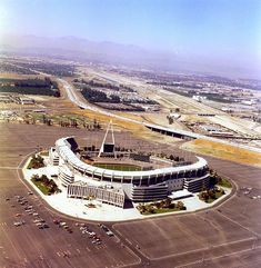 Anaheim Stadium, Anaheim, CA. the Rams and the Angels played here.