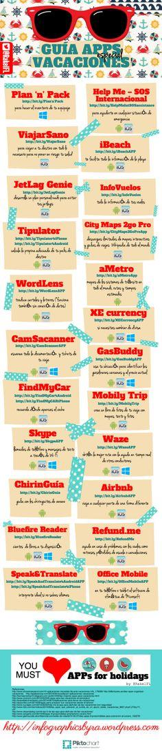 Guía de aplicaciones especial vacaciones, infografía de Rakel Felipe