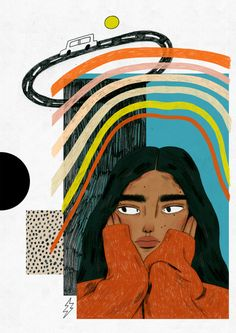 Discovered by Find images and videos about girl, drawing and illustration on We Heart It - the app to get lost in what you love. Art Inspo, Kunst Inspo, Inspiration Art, Art And Illustration, Illustrations And Posters, Portrait Illustration, Art Sketches, Art Drawings, Horse Drawings