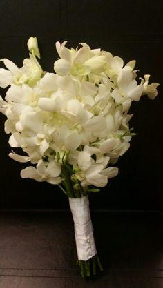 White dendrobium orchid bouquet