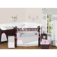 Sweet JoJo Designs Zig Zag 9-piece Crib Bedding Set | Overstock.com Shopping - Big Discounts on Sweet Jojo Designs Bedding Sets