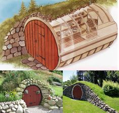 hobbit hole root cellars cellar Instant Access to Woodworking Plans and Projects - TedsWoodworking Earthship, Casa Bunker, Shed Conversion Ideas, Root Cellar, Wine Cellar, Underground Homes, She Sheds, Earth Homes, Play Houses