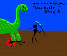 """Here's what happened when 15 random people took turns drawing and describing, starting with the prompt """"Dinosaur - Ancient enemy of man"""". Dinosaur Stuffed Animal, Game, Drawings, Pictures, Animals, Photos, Animales, Animaux, Gaming"""