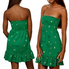 NCAA Notre Dame Fighting Irish Ladies Green Summer « Dress Adds Everyday
