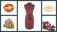 Торбочка Wayuu Bag, Werrugue Bracelet M, Pamela St hat by Guanabana + Womens Purple Twil Shirt Dress, Peacocks + Rasteria Nobuck Vinho, Arezzo #мода #стиль #сочиняемнаряд #платье #аксессуары #текситальнаясумка #головныеуборы #шляпа #украшения #браслет #обувь #сандалии #fashion #style #outfit #dress #peacocks #accessories #bag #jewellery #bracelet #hat #guanabana #sandals #arezzo