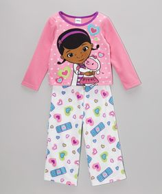 Take a look at this Doc McStuffins Pink & White Doc McStuffins Pajama Set - Toddler on zulily today!