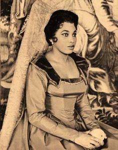 Leontyne Price as Donna Elvira, photograph courtesy of the San Francisco Opera,1957