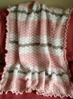 Crochet For Children: Pink Baby Girl Blanket - Free Pattern