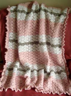 Crochet For Children: Pink Baby Girl Blanket - Free Pattern