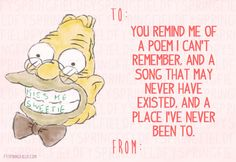"""Here Are The Perfect Valentine's Day Cards For """"Simpsons"""" Lovers The Office Valentines, My Funny Valentine, Valentine Day Cards, Valentines Diy, Love Days, Valentine's Day Diy, All You Need Is Love, Laughing So Hard, Make Me Happy"""