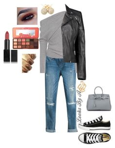 """Untitled #194"" by looksbya on Polyvore featuring White House Black Market, Tom Ford, Boohoo, Converse, Too Faced Cosmetics, NARS Cosmetics, Hueb and Loushelou"