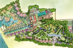 Dusit Boutique Resort | SALA Design Group Landscape Plane, Landscape Drawings, Architecture Drawings, Urban Landscape, Architecture Plan, Urban Design Plan, Plan Design, Site Design, Site Development Plan