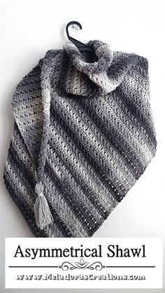 Asymmetrical Shawl pattern Free on site. PDF pattern from shops come with pictures. #crochetasymmetricalshawl #asymmetricalcrochetshawl #crochetshawl Crochet Shawl Free, All Free Crochet, Knitted Shawls, Pdf Patterns, Free Pattern, Crochet Patterns, Hooded Scarf Pattern, Cowl Scarf, Crochet Hooks