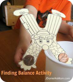 Balancing fun! Science and circus at the same time.