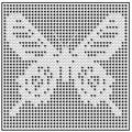 Free Filet Crochet Patterns You Should Try: Ceylon Rose Butterfly Chart