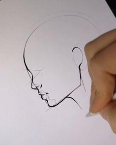 Line Art Drawings Doodles Simple New Ideas Easy Hand Drawings, Cool Art Drawings, Pencil Art Drawings, Art Drawings Sketches, Drawing Faces, Easy Drawings For Beginners, Anatomy Sketches, Sexy Drawings, Digital Art Tutorial