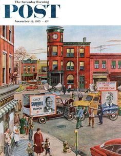Candidate Clash by Ben Kimberly Prins, November 12, 1955, The Saturday Evening Post.