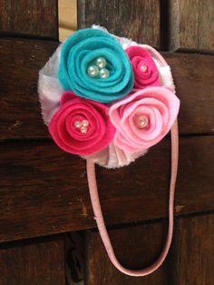 Felt roses headband