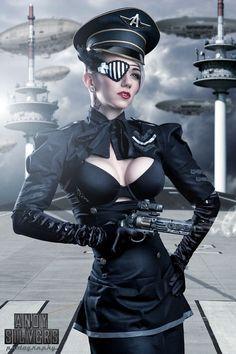 Dieselpunk Costume | Future Flight Commander Location: Penthouse Studio Copyright: ©Andy ...