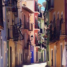 @frkhelgesen op Instagram: 'Nydelige Villajoyosa❤️#spain #costablanca #villajoyosa #summer#holiday#family#colors #beautiful'