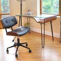 Black Leander Swivel Office Chair - v2