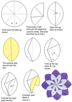 Origami circle petal flower origami flowers pinterest origami circular motif6f 439617 mightylinksfo