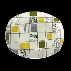 Chequers dish. Designed by Terence Conran 1957, made by W. R. Midwinter Ltd. via V&A