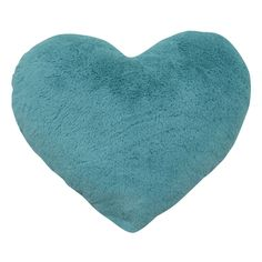 HEART AQUA PLUSH Bedroom For Girls Kids, Circle Design, At Home Store, Home Textile, Plush, Throw Pillows, Heart, Aqua Blue, Budget
