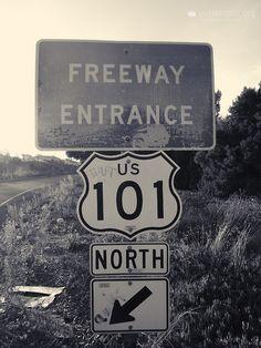 US 101 /  North / Freeway Entrance  http://quitecontinental.tumblr.com/post/51843470000
