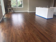 White oak with duraseal antique brown stain and Pallmann x96 matte finish