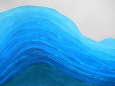The Wave. All Nature, Primary School, Perspective, Wave, Students, Sea, Glass, Artwork, Painting