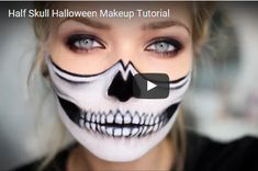 Half Skull Makeup For The Halloween Party | | Breath Taking Photos