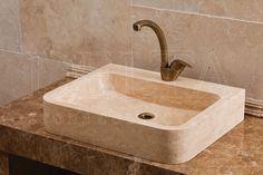 Bathroom Collection Sinks | Kiev Classic Travertine Sink (DLT 703)