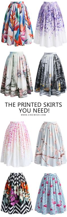 Bold, Colorful Summer Skirt! Find more at CHICWISH.COM