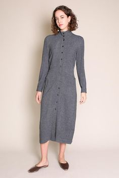 Rachel Comey - Wager Dress in Clarion Navy Rachel Comey, Mid Length, Dress Making, Wool Blend, How To Make, How To Wear, High Neck Dress, Dresses For Work, Navy
