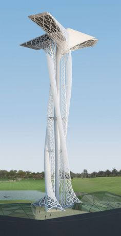 architectural design proposal for Dubai observation tower by Xten Architecture