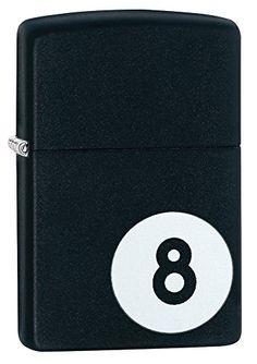 Zippo Eight Ball Pocket Lighter Black Matte