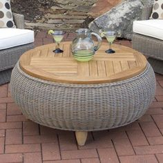 Belham Living Meridian All Weather Wicker Ottoman Table - There .- Belham Living Meridian all-weather wicker ottoman table – there is no … - Tire Furniture, Diy Furniture Decor, Diy Garden Furniture, Furniture Projects, Furniture Websites, Inexpensive Furniture, Upcycled Furniture, Unique Furniture, Outdoor Furniture