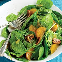 Kosher recipe: Spinach Salad with Persimmons | Gourmet Kosher Cooking